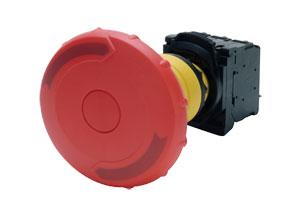 OMPBD7P-MM : Standard Plastic Mushroom, Momentary & E-Stop, Non-Illuminated Pushbuttons