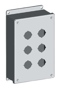 SCE-PBSS Series Stainless Steel Push Button Enclosures : IP66 Stainless Steel 30mm & 22 mm Pushbutton Enclosures