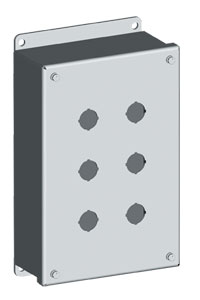 SCE-PB Series Pushbutton Enclosures : IP55 Steel Enclosures for 22mm & 30 mm Switch Bodies