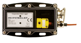 Thermocouple Temperature Data Logging System with Waterproof Enclosure and Remote Probe   OM-CP-ETR101A-KIT