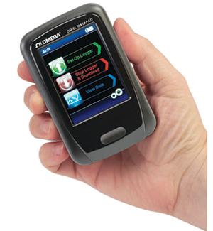 Handheld Programmer and Data Collector for the OM-EL-USB Series Data Loggers | OM-EL-DATAPAD