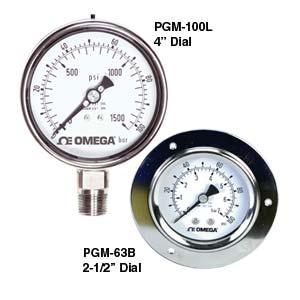 Stainless Steel Pressure Gauge - Order online | PGM Series