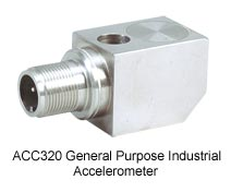 General purpouse industrial accelerometer with 2-Pin MIL-Style Connector