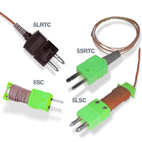 Fast response insulated thermocouple with connectors | 5LSC, 5SRTC, and 5SC Series