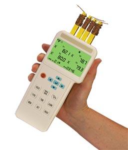 4 Input Thermometer and Data Logger   HH1384
