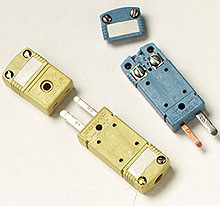 High Temperature Miniature TC Connectors- Male Connector Features Zinc Ferrite Core for EMI/RFI Suppression | HMPW-(*) and HFMPW-(*)