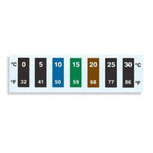 Reversible Temperature Labels, Multi Temp Liquid Crystal Strips | RLC-50 Series